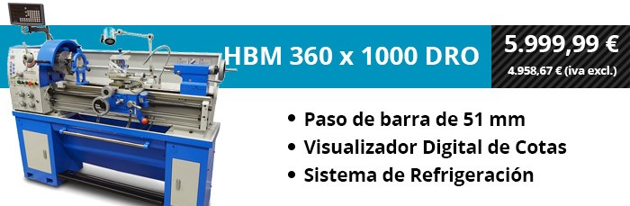 HBM 360 x 1000 DRO