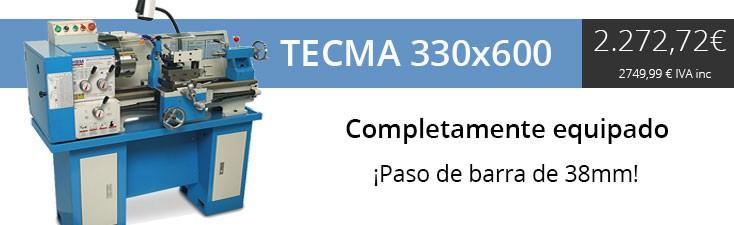 Torno TECMA 330x600