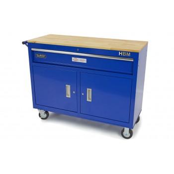 Carro/Banco de Trabajo Azul. 117 cm